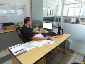 COVID19 SAFETY FOR CLIENTS - PHILLIP AT DESK