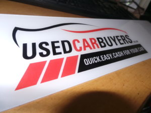 Used Car Buyers Logo Sign