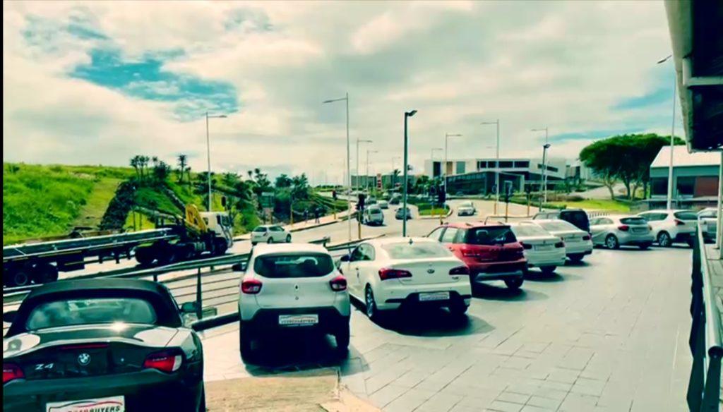 Selection of vehicles outside showroom